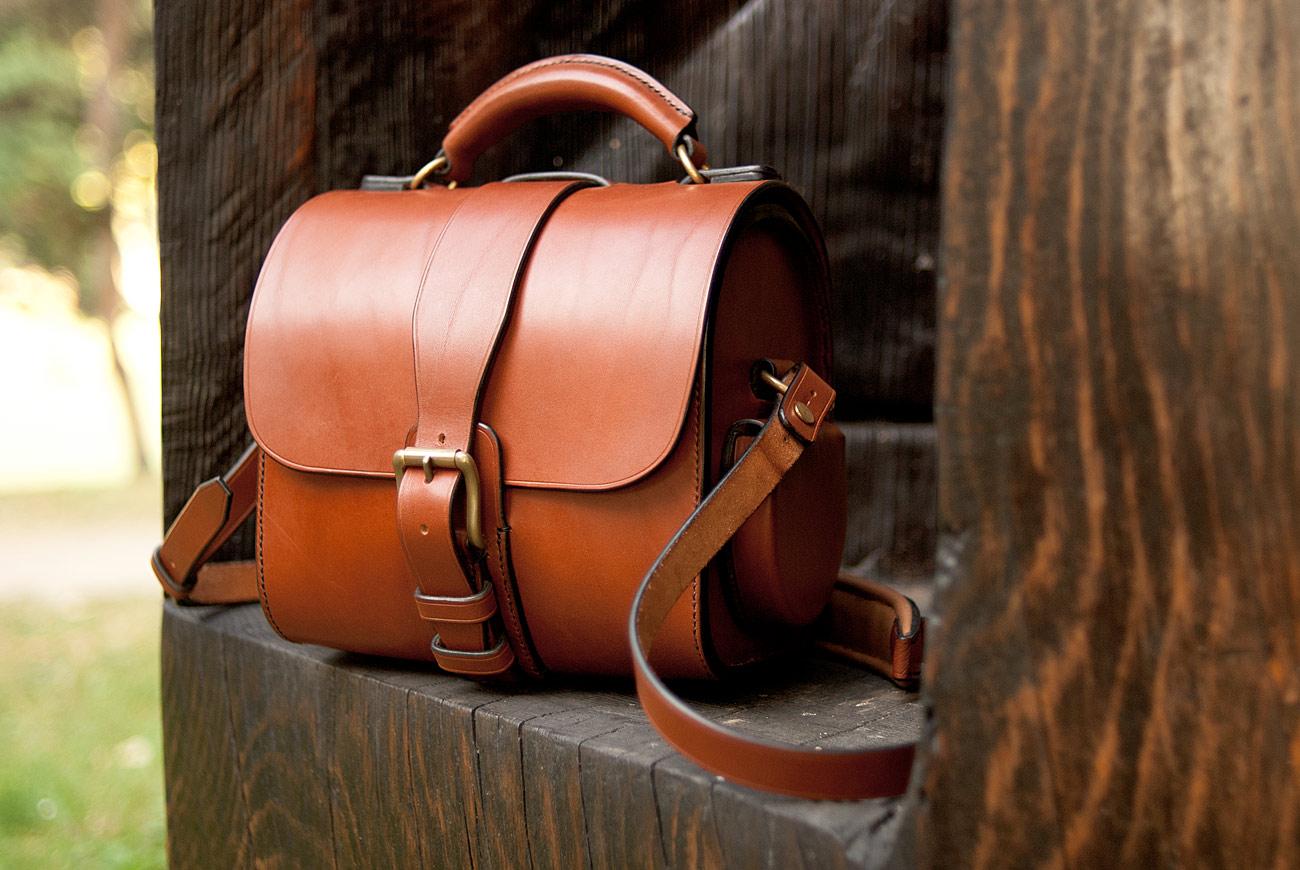 sac pour appareil photo en cuir rigide