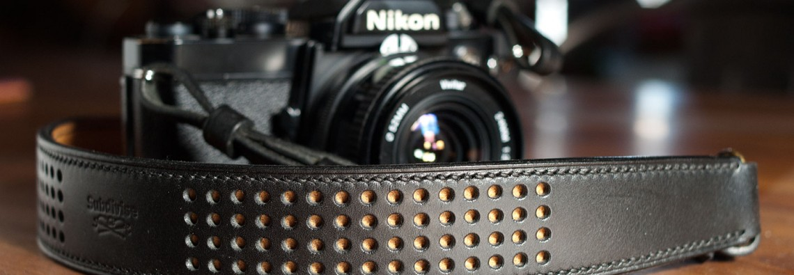 lanière appareil photo cuir - handmade leather camera strap