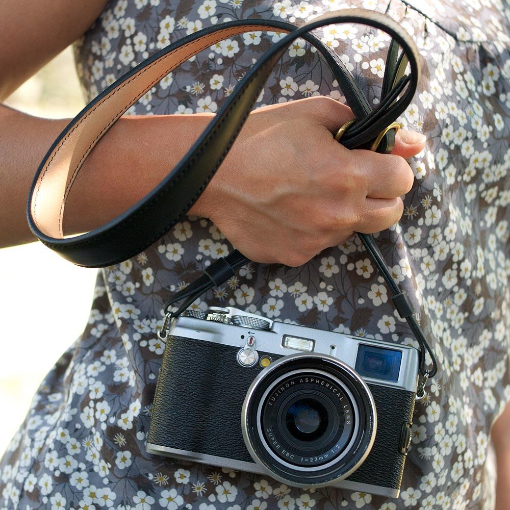 Lanière cuir pour appareil photo fuji X, Panasonic Lumix, Sony Alpha, Olympus OM, Leica