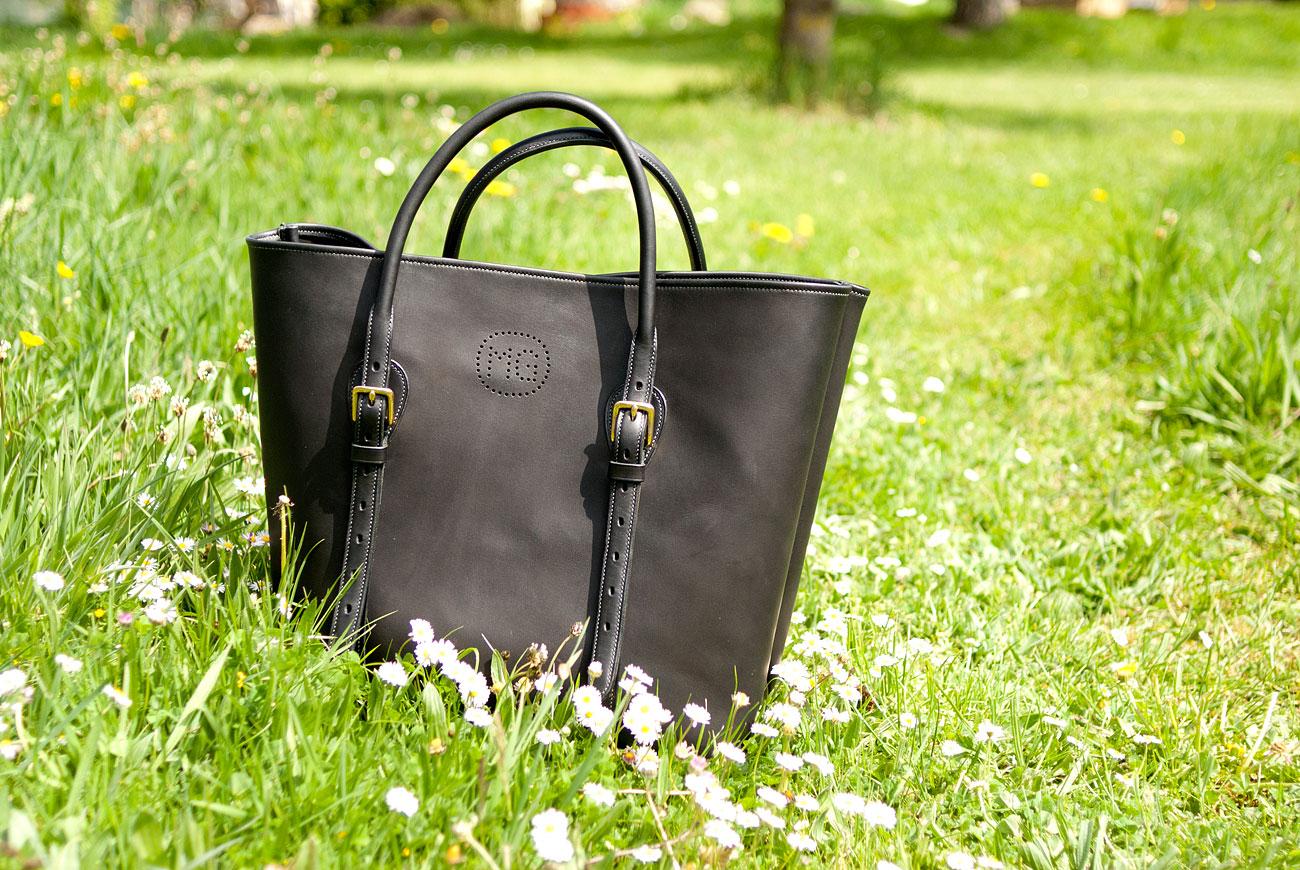 sac tote - cabas femme - veau et cuir tanné végétal