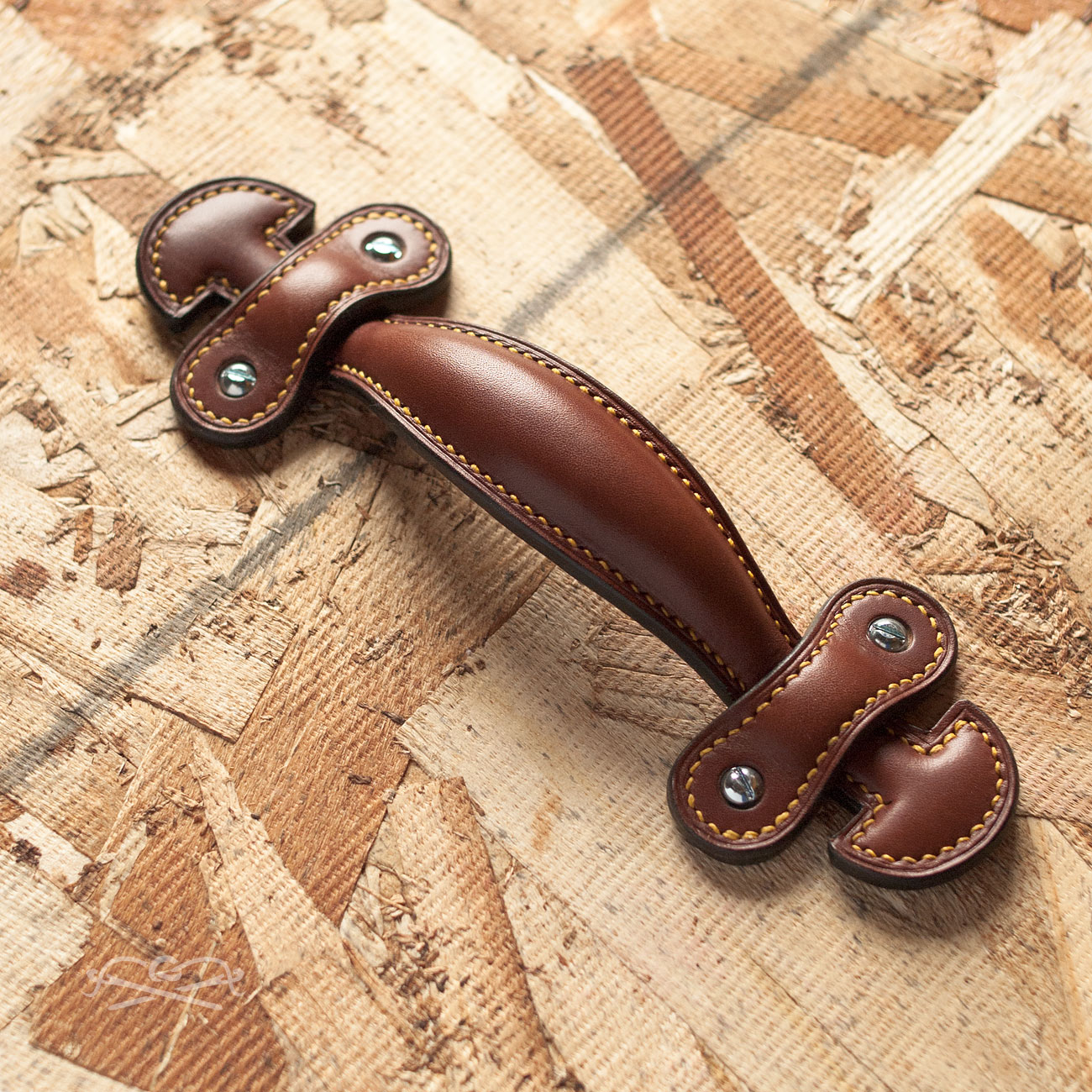 poignee cuir - leather handle
